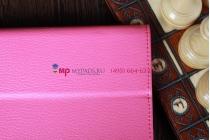 Фирменный чехол для Google Samsung Nexus 10 малиновый кожаный