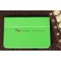 Фирменный чехол для Google Samsung Nexus 10 зеленый кожаный
