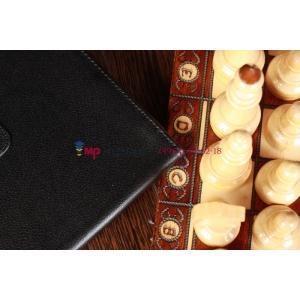 Чехол-обложка для Google Samsung Nexus 10 черно-серый кожаный