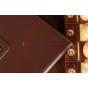 Чехол-обложка для Google Samsung Nexus 10 коричневый кожаный