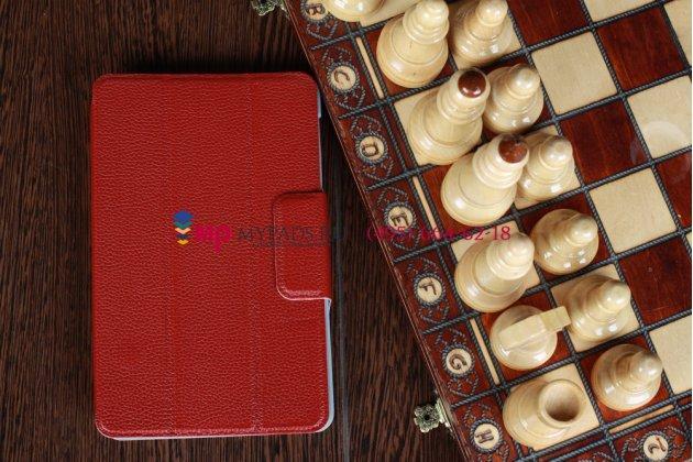 Чехол для Asus Google Nexus 7 1-го поколения 2012 бордовый кожаный