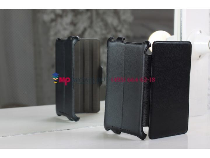 Чехол для Asus Google Nexus 7 черный кожаный