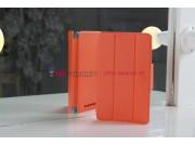 Фирменный чехол-обложка для Asus Google Nexus 7 1-го поколения 2012 оранжевый кожаный..
