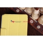 Фирменный чехол-обложка для Asus Google Nexus 7 1-го поколения 2012 желтый кожаный
