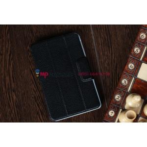 Чехол-обложка для Google Nexus 7 черный кожаный