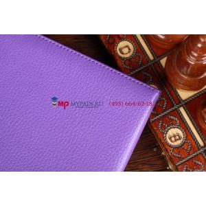 Фирменный чехол для Google Samsung Nexus 10 фиолетовый с застежкой кожаный