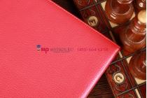 Фирменный чехол для Google Samsung Nexus 10 красный с застежкой кожаный