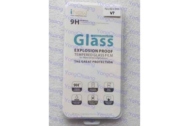 Фирменное защитное закалённое противоударное стекло премиум-класса из качественного японского материала с олеофобным покрытием для iNew V7 / V7A