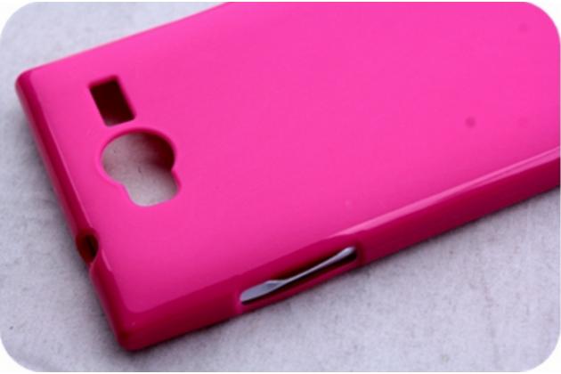 Фирменная задняя панель-крышка-накладка из тончайшего и прочного пластика для iNew V1 розовая