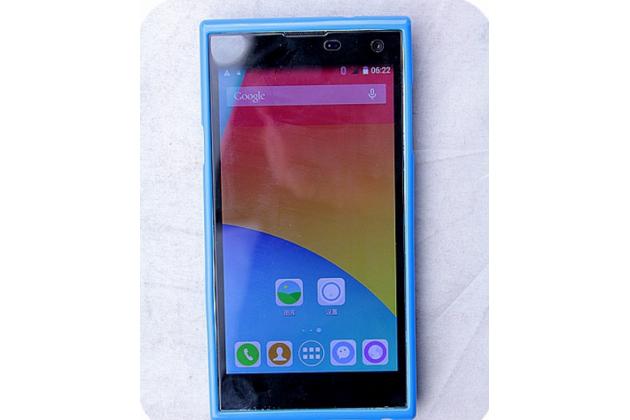 Фирменная задняя панель-крышка-накладка из тончайшего и прочного пластика для iNew V1 синяя