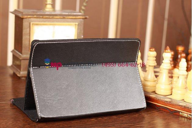 Чехол-обложка для  iRu Pad Master R801G 1Gb 16Gb SSD черный кожаный