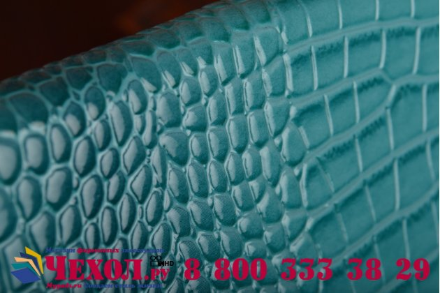 Фирменный роскошный эксклюзивный чехол-клатч/портмоне/сумочка/кошелек из лаковой кожи крокодила для планшета Irulu X1782. Только в нашем магазине. Количество ограничено.