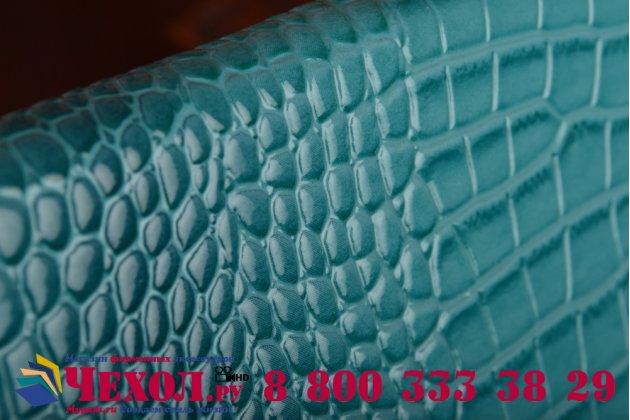 Фирменный роскошный эксклюзивный чехол-клатч/портмоне/сумочка/кошелек из лаковой кожи крокодила для планшета Irulu X1783. Только в нашем магазине. Количество ограничено.