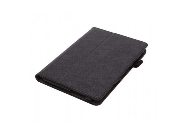 """Фирменный оригинальный чехол обложка с подставкой для iRulu expro 7"""" чёрный кожаный"""