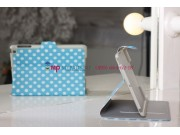 Чехол в крапинку под далматинца для iPad Mini бело-голубой горох..
