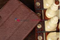 Чехол-обложка для iPad Mini с кнопкой коричневый полиуретановый