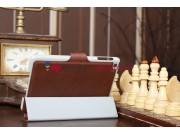Чехол-обложка для iPad Mini с кнопкой коричневый полиуретановый..