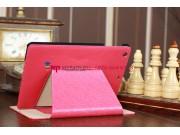 Чехол-обложка для iPad Mini с застежкой кожаный красный..