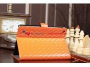 Сгёганая кожа в ромбик яркий сочный цвет чехол-обложка для iPad Mini оранжевый кожаный..