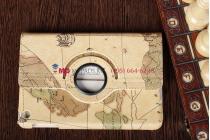 """Чехол для iPad Mini """"тематика карта мира"""" кожаный"""