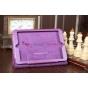 Яркий красивый сочный фиолетовый цвет чехол-обложка для iPad Min 1/2/3 кожаный..