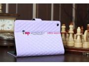 Стёганая кожа в ромбик чехол-обложка для iPad Mini Парижский фиолетовый..