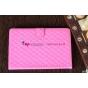 Сгёганая кожа в ромбик чехол-футляр для iPad Mini розовый веселая вдова
