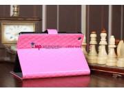 Сгёганая кожа в ромбик чехол-футляр для iPad Mini 1/2/3  розовый веселая вдова..