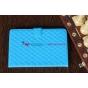 Стёганая кожа в ромбик чехол-обложка для iPad Mini синий