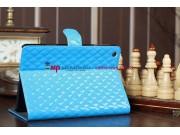 Стёганая кожа в ромбик чехол-обложка для iPad Mini 1/2/3 синий..