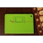 Очень яркий чехол-обложка для iPad Mini 1/2/3 зеленый кожаный