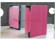 Чехол-обложка для iPad2/new iPad 3 SLIM розовый кожаный..