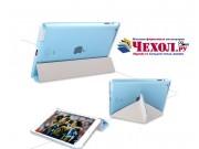 Фирменный чехол-книжка для iPad2/new iPad 3/iPad 4 ультра-тонкий белый пластиковый..
