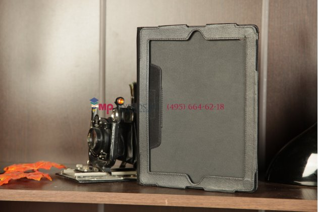 Чехол для Apple iPad 2/3/4 черный кожаный
