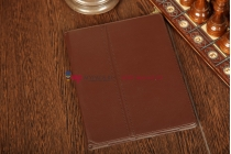 Фирменный чехол-сумка для iPad2/3/4 коричневый кожаный
