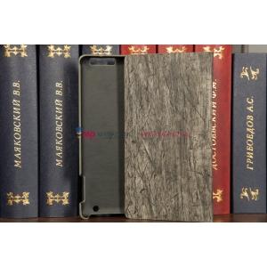 Фирменный чехол-обложка для iPad2/i3/4 бамбуковый темный кожаный