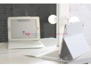 Чехол с клавиатурой для iPad2/new iPad 3 белый кожаный..