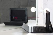 Чехол с клавиатурой для iPad2/new iPad 3 черный кожаный