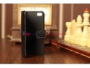 Чехол для Apple iPhone 5/ SE/ 5SE кожа крокодила черный..
