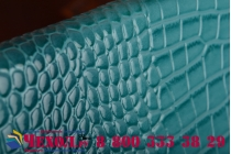 Фирменный роскошный эксклюзивный чехол-клатч/портмоне/сумочка/кошелек из лаковой кожи крокодила для планшета Irbis TZ85. Только в нашем магазине. Количество ограничено.