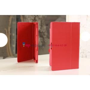Фирменный чехол для Microsoft Surface/Surface Pro красный кожаный