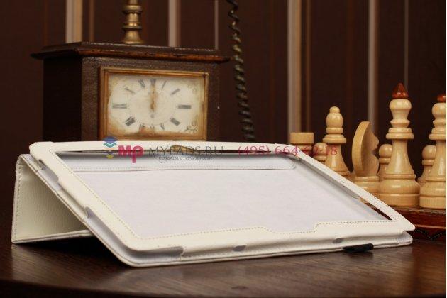 Фирменный чехол-обложка для Microsoft Surface/Surface Pro белый кожаный