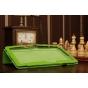 Фирменный чехол-обложка для Microsoft Surface/Surface Pro зеленый кожаный