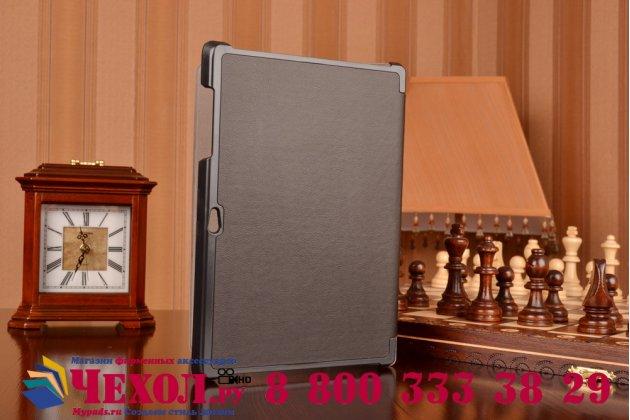 """Фирменный умный чехол самый тонкий в мире для планшета Microsoft Surface 3 10.8"""" дюймов """"Il Sottile"""" черный кожаный"""