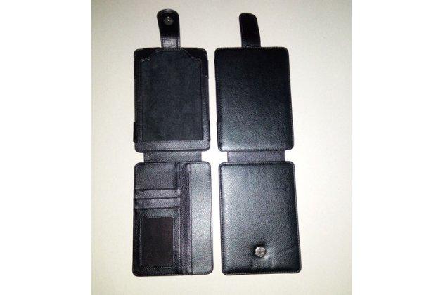 Чехол-флип для Amazon Kindle Touch кожаный черный