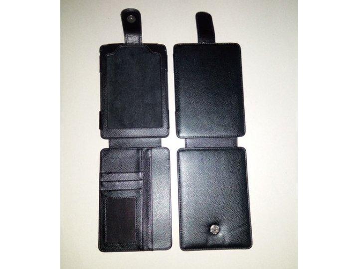 Чехол-флип для Amazon Kindle Touch кожаный черный..