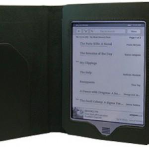 Чехол для Amazon Kindle Touch кожаный черный