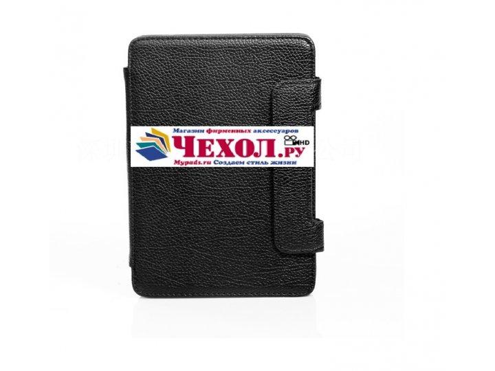 Чехол-обложка для Pocketbook 611 Basic черный кожаный..
