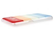 """Фирменная необычная из легчайшего и тончайшего пластика задняя панель-чехол-накладка для Samsung GALAXY Ace 4 Duos SM-G313HU/DS """"тематика Все цвета Радуги"""""""