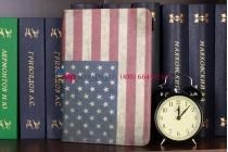 "Чехол для Samsung Galaxy Note 10.1 N8000 ""тематика американский флаг"" кожаный"